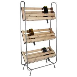 Wood/Metal Wine Rack