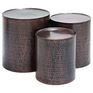 UMA Enterprises, Inc. Accent Furniture Metal Bronze Accent Tables, Set of 3