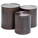 UMA Enterprises, Inc. Accent Furniture Metal Bronze Accent Tables, Set of 3 - Item Number: 23851