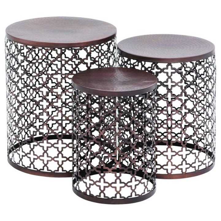 Accent Furniture Metal Accent Tables, Set of 3 by UMA Enterprises, Inc. at Wilcox Furniture