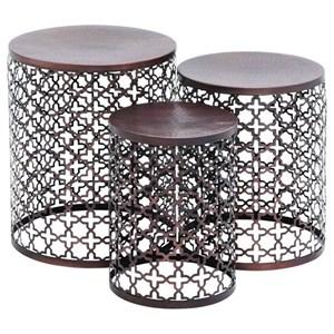 UMA Enterprises, Inc. Accent Furniture Metal Accent Tables, Set of 3