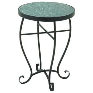 UMA Enterprises, Inc. Accent Furniture Metal Turquoise Mosaic Accent Table