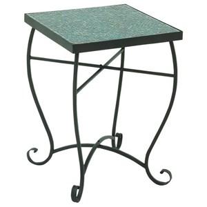 UMA Enterprises, Inc. Accent Furniture Metal/Turquoise Mosaic Accent Table