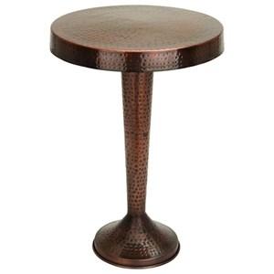 UMA Enterprises, Inc. Accent Furniture Metal Bronze Pedestal Table