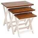 UMA Enterprises, Inc. Accent Furniture Wood Nesting Tables, Set of 3 - Item Number: 28706