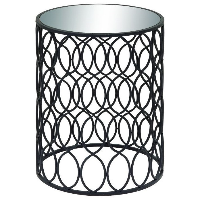 Metal/Mirror Accent Table