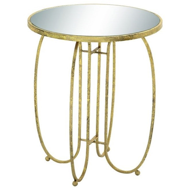 Accent Furniture Metal Mirror Accent Table by UMA Enterprises, Inc. at Wilcox Furniture