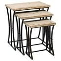 UMA Enterprises, Inc. Accent Furniture Metal/Wood Nesting Tables, Set of 3 - Item Number: 34848