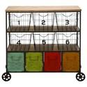UMA Enterprises, Inc. Accent Furniture Metal Storage Cart - Item Number: 34968