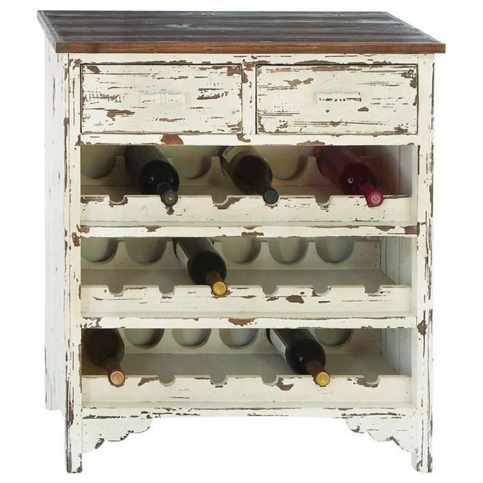 Accent Furniture Wood Wine Cabinet by UMA Enterprises, Inc. at Wilcox Furniture