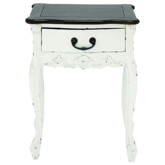 Accent Furniture Wood Side Table by UMA Enterprises, Inc. at Wilcox Furniture