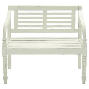 UMA Enterprises, Inc. Accent Furniture Wood White Bench