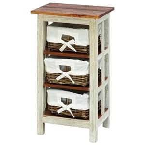 UMA Enterprises, Inc. Accent Furniture Solid Wood Rattan Side Table