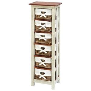"UMA Enterprises, Inc. Accent Furniture Wood Rattan Chest 50""H, 16""W"
