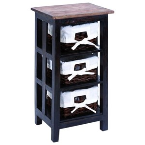 UMA Enterprises, Inc. Accent Furniture Wood Rattan Side Table