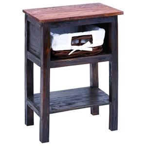 UMA Enterprises, Inc. Accent Furniture Wood/Rattan Side Table
