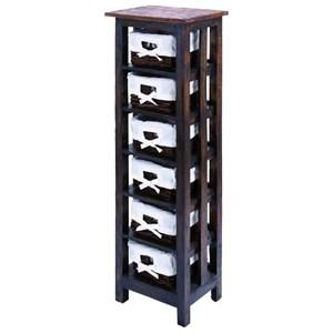 UMA Enterprises, Inc. Accent Furniture Wood Rattan Storage Chest