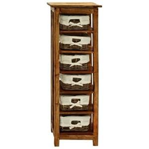 UMA Enterprises, Inc. Accent Furniture Wood Rattan Chest