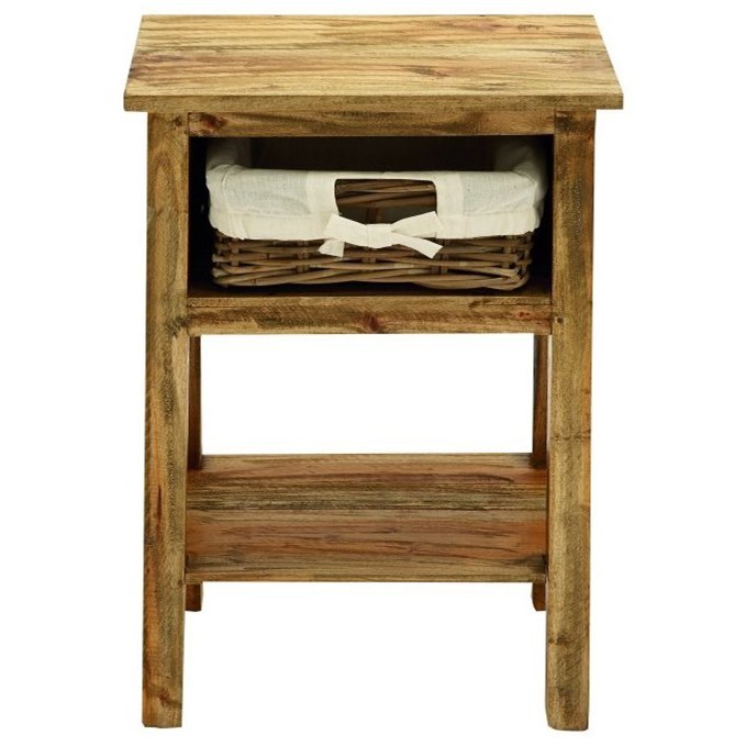Accent Furniture Wood/Rattan Side Table by UMA Enterprises, Inc. at Wilcox Furniture
