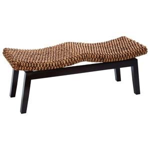 UMA Enterprises, Inc. Accent Furniture Wood/Hyacinth Bench