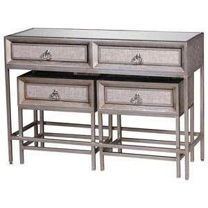 UMA Enterprises, Inc. Accent Furniture Metal/Wood Mirror Consoles, Set of 3