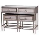 UMA Enterprises, Inc. Accent Furniture Metal/Wood Mirror Consoles, Set of 3 - Item Number: 39852