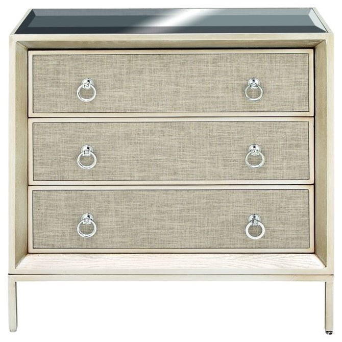 Accent Furniture Wood/Metal Mirror Chest by UMA Enterprises, Inc. at Wilcox Furniture