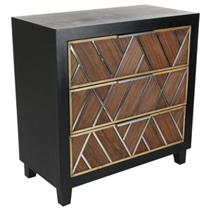 Ordinaire UMA Enterprises, Inc. Accent Furniture Wood/Stainless Steel Chest