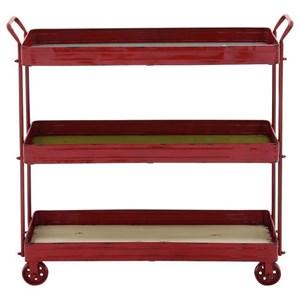 Metal/Wood 3 Tier Cart