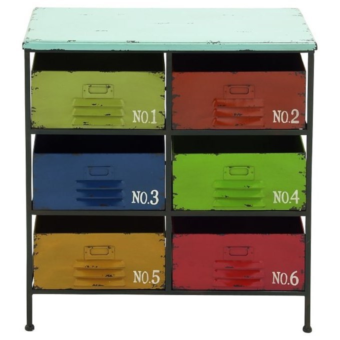 Accent Furniture Metal/Wood Storage Chest by UMA Enterprises, Inc. at Wilcox Furniture