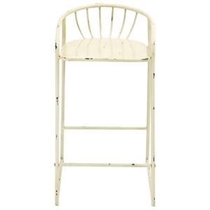 UMA Enterprises, Inc. Accent Furniture Metal Barstool Cream