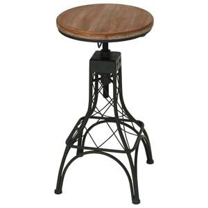 UMA Enterprises, Inc. Accent Furniture Metal/Wood Adjustable Bar Stool