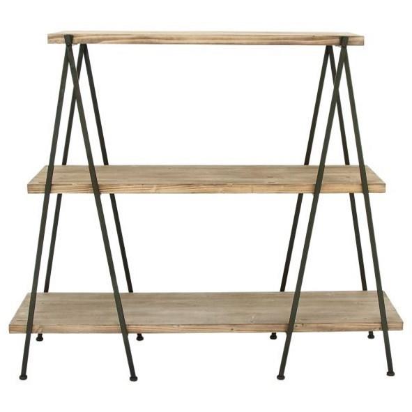 Accent Furniture Wood/Metal 3-Tier Shelf by UMA Enterprises, Inc. at Wilcox Furniture