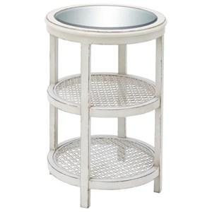 UMA Enterprises, Inc. Accent Furniture Wood/Mirror/Metal White Accent Table