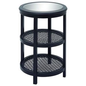 UMA Enterprises, Inc. Accent Furniture Wood/Mirror Metal Black Accent Table