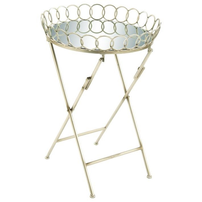Accent Furniture Metal Mirror Tray Table by UMA Enterprises, Inc. at Wilcox Furniture