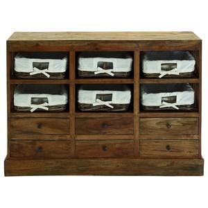 UMA Enterprises, Inc. Accent Furniture Wood Basket Dresser