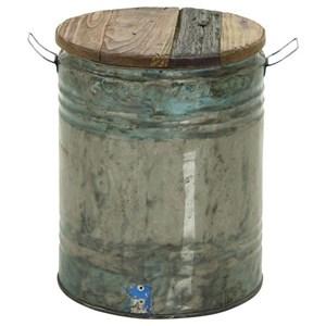 UMA Enterprises, Inc. Accent Furniture Metal/Wood Drum Stool