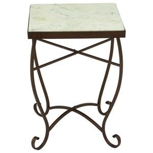 UMA Enterprises, Inc. Accent Furniture Metal/Marble Square Accent Table