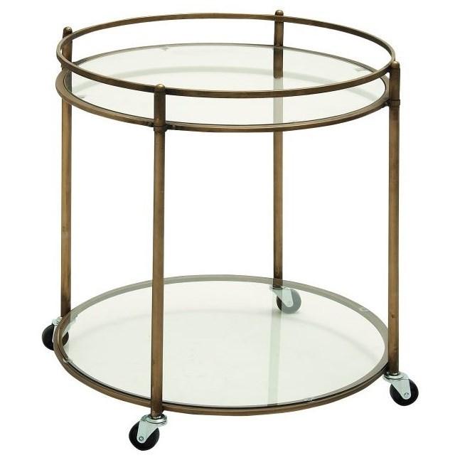 Accent Furniture Metal/Glass Bar Cart by UMA Enterprises, Inc. at Wilcox Furniture