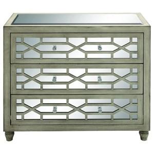 UMA Enterprises, Inc. Accent Furniture Wood Mirror Chest