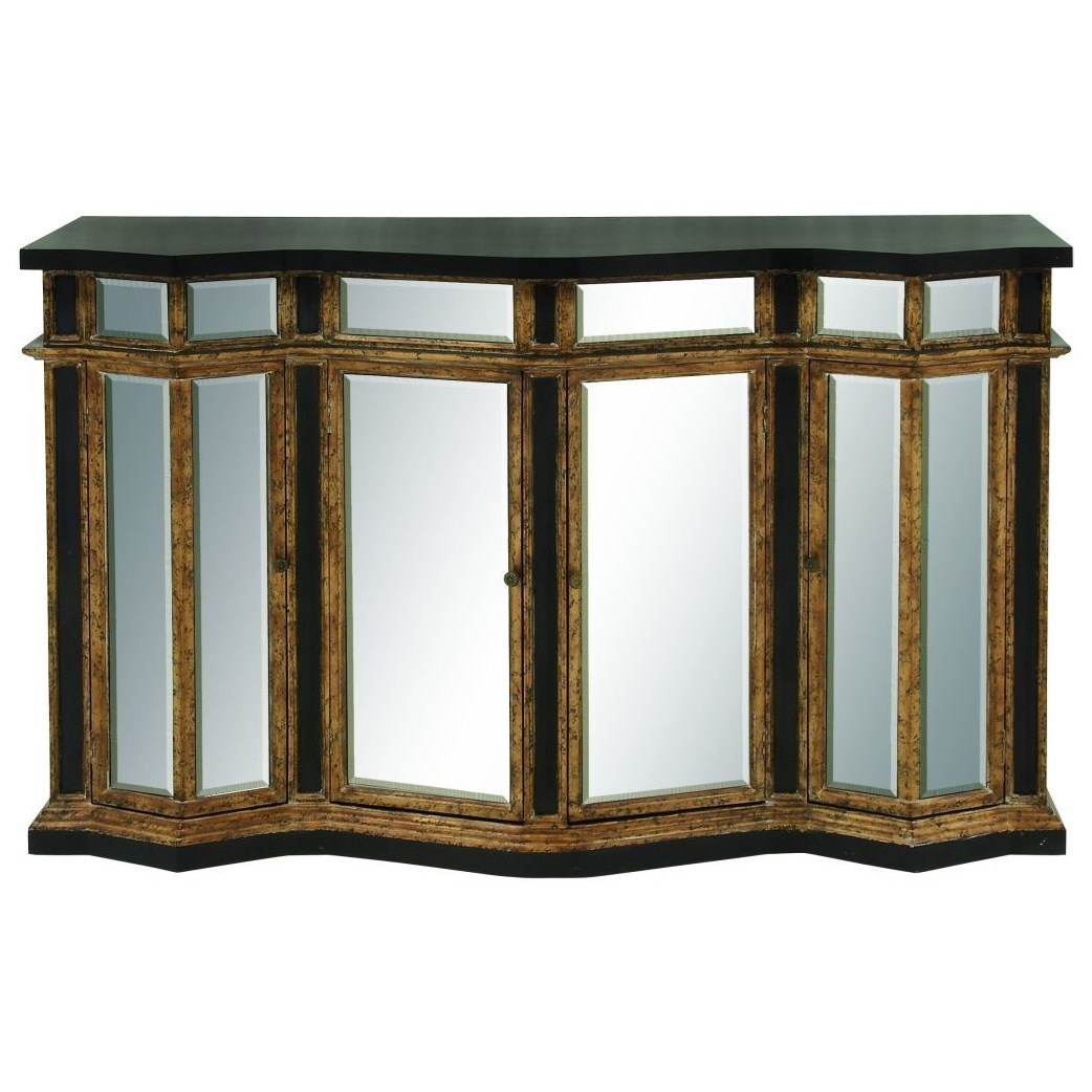 Wood/Mirror Buffet Cabinet