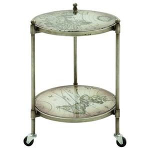 UMA Enterprises, Inc. Accent Furniture Metal Glass Cart