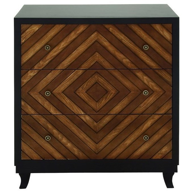Accent Furniture 3 Drawer Chest by UMA Enterprises, Inc. at Wilcox Furniture