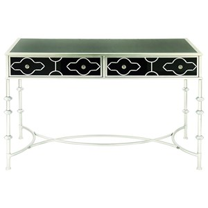 UMA Enterprises, Inc. Accent Furniture Metal/Glass Vanity Desk