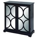UMA Enterprises, Inc. Accent Furniture Wood Mirror Black Cabinet - Item Number: 48680