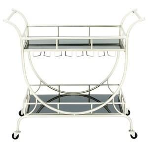 UMA Enterprises, Inc. Accent Furniture Metal/Glass Cart