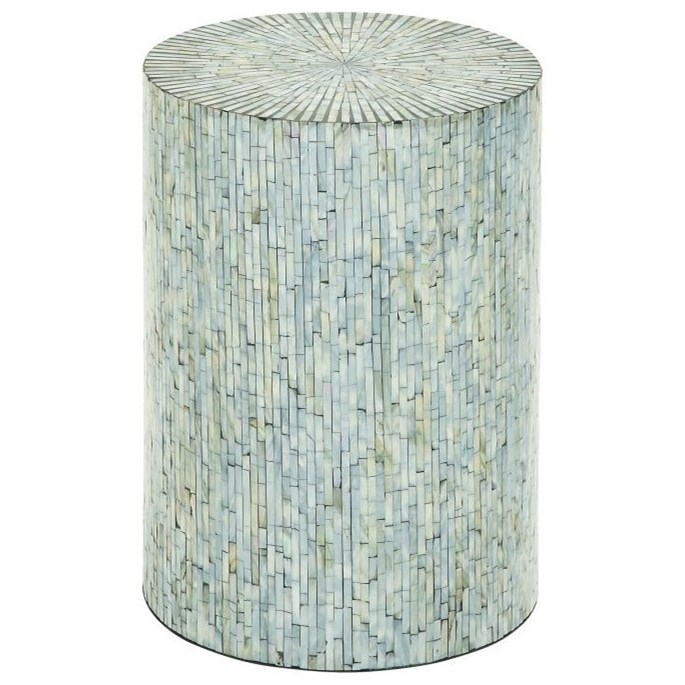 Accent Furniture Shell Inlay Accent Table by UMA Enterprises, Inc. at Wilcox Furniture