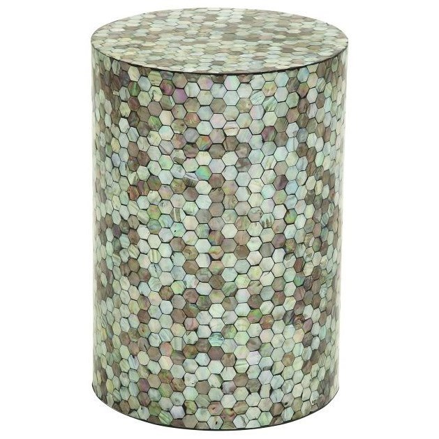 Shell Inlay Accent Table Accent Furniture By Uma