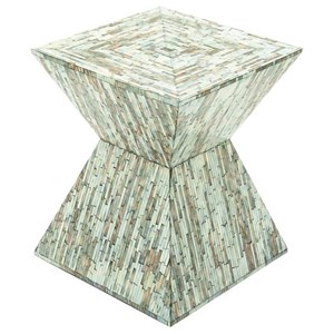 UMA Enterprises, Inc. Accent Furniture Wood Inlay Accent Table